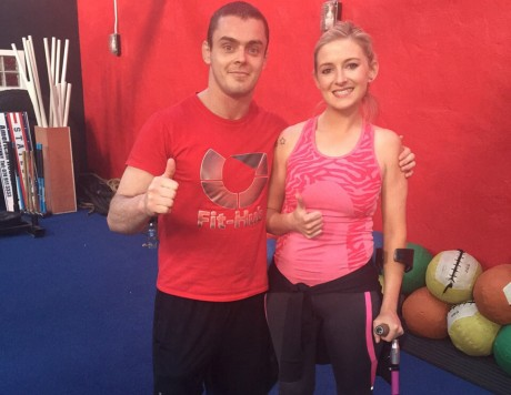 Nikki with instructor Paul Gallagher.