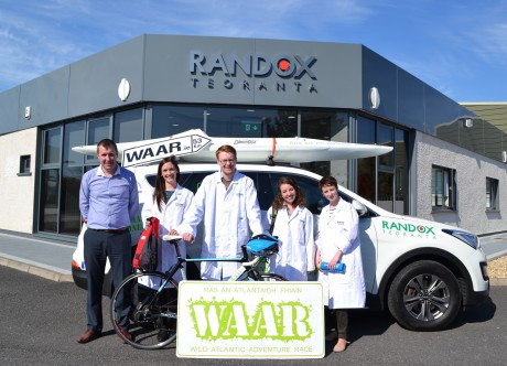 Team Randox who are participating in the local WAAR (Wild Atlantic Race) challenge this weekend along with their manager Ciaran Richardson of Randox Teoranta who are the title sponsors. The adventure race takes place in the Rosses this Saturday, May 16.