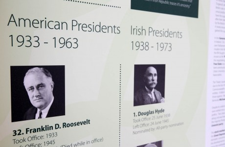 The pavilion houses an extensive history of American and Irish presidents.