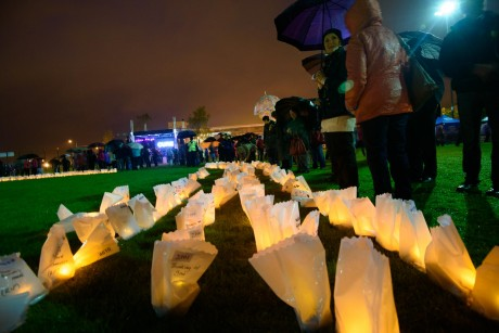 at the Donegal Relay for Life Luminaria Ceremony. Photo:- Clive Wasson