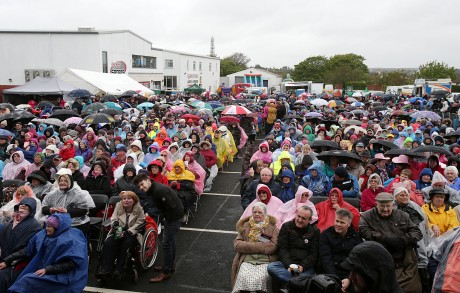 A section of the large crowd at the special concert in Dungloe.