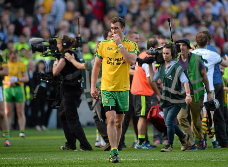 Donegal's Eamon McGee dejected after the 2014 All-Ireland final against Kerry.