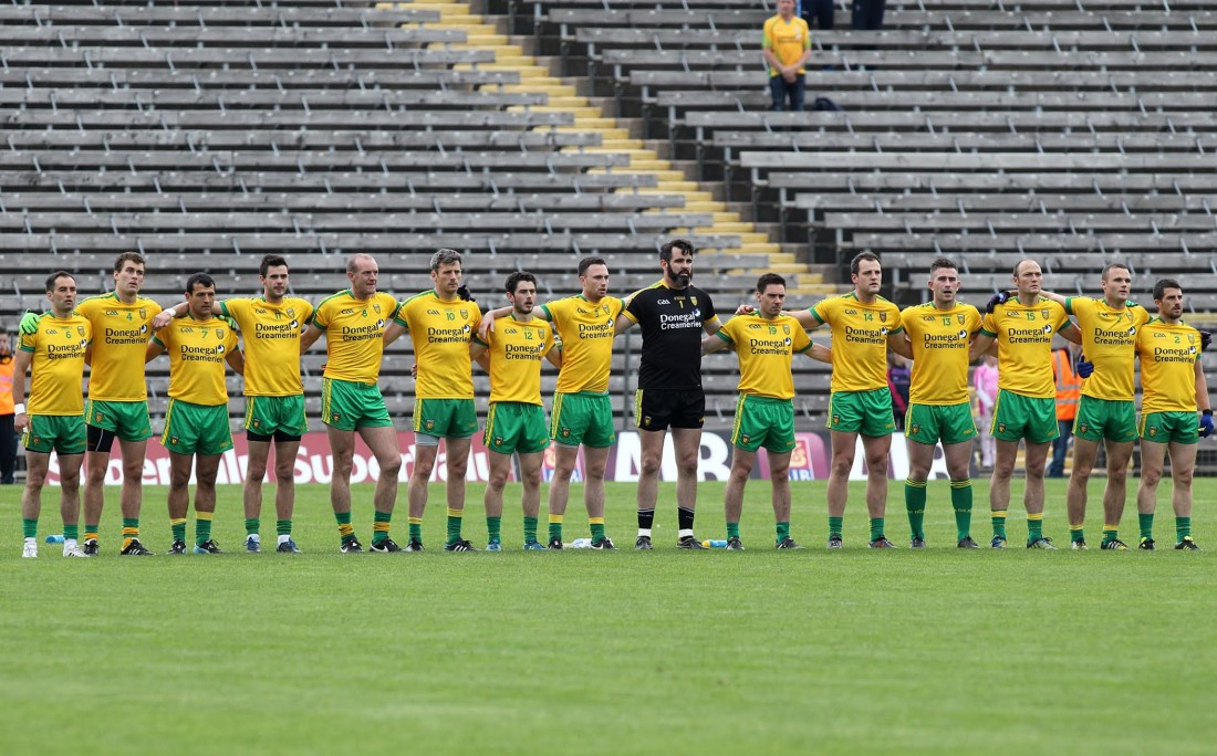 The Donegal team who defeated Derry to reach their fifth Ulster Final in five years. Photo: Donna El Assaad