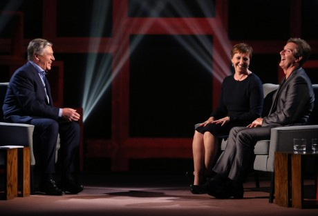 Pat Kenny with Daniel and Majella O'Donnell.