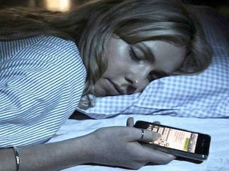 Sleeping with phone