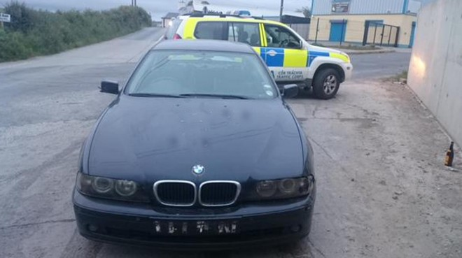 Traffic Corps seized blue BMW 525 at Cullion Road Letterkenny no insurances or number plates.