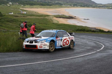 Garry Jennings tackles Knockalla on a previous running of the Donegal Rally.