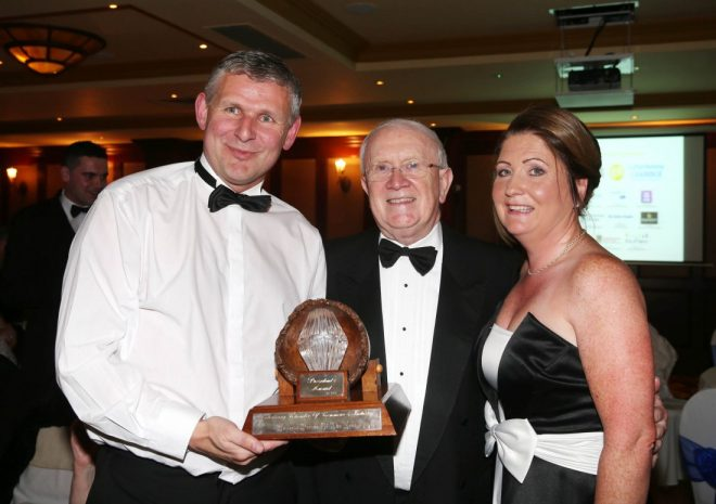 Eddie and Annette Tobin with Pat the Cope Gallagher, TD.