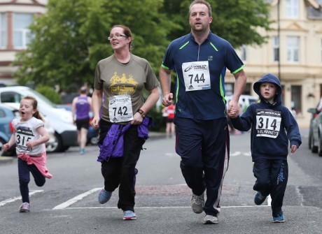 Hazel, Lester, Jack and Jessica Long taking part in the Raphoe 5K on Tuesday evening.