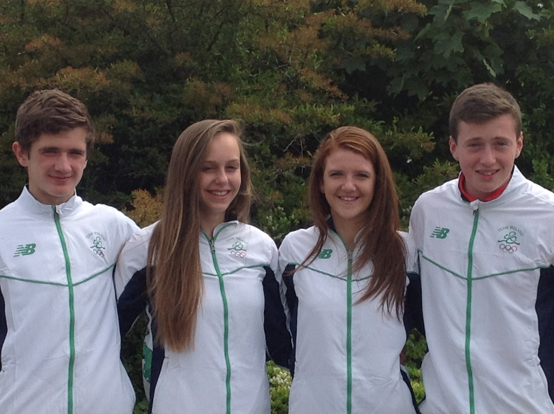Donegal athletes Aaron McGlynn, Sommer Lecky, Arlene Crossan and Brendan OÕDonnell who are in Tbilisi, Georgia this week representing Ireland at the European Youth Olympic Festival