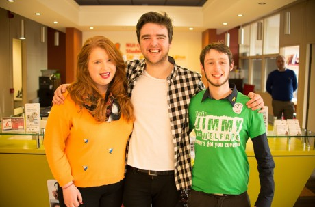 Rebecca Melvin (NUIG SU VP/Education Officer), Phelim Kelly (NUIG SU President) and Jimmy McGovern (NUIG SU VP/Welfare Officer)
