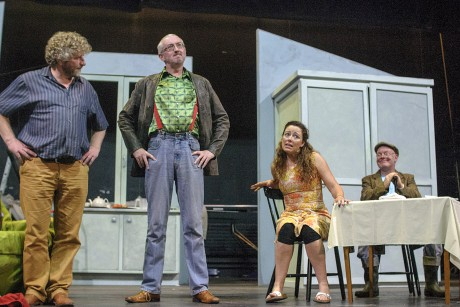 Cast members Martin McGinley, Michael Leddy, Valerie Bryce and Eoghan MacGiolla Bhride.