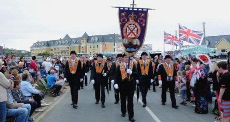 Last year's Orange parade in Rossnowlagh. Photo: Trevor McBride.