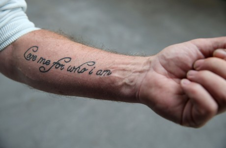 The special request on Patrick's wrist.