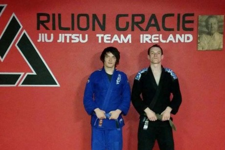 Damien McLaughlin, Letterkenny (left) with Rilion Gracie Ireland Head Coach Brian Coyle.