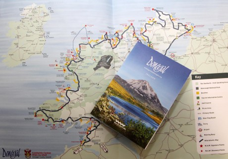 Destination Donegal map and information booklet.