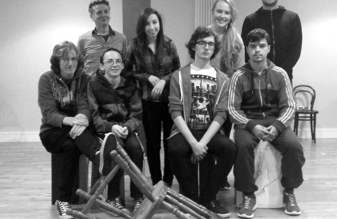 Members of the cast of the Last Stand during rehearsals.