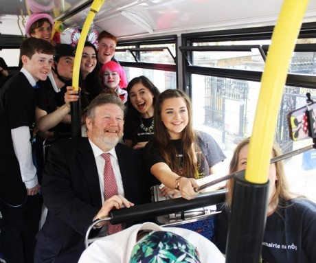 Maria Ferry: Comhairle na nOg National Executive representative Maria Ferry from Gweedore with Minister for Children & Youth Affairs Dr James Reilly at the national launch of Lets Go Mental.