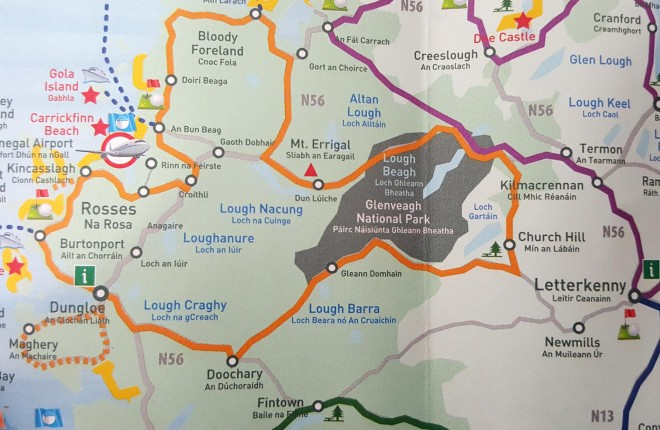 Donegal's famous landmark is named as 'Mt Errigal' in the new Go Visit Donegal brochure.