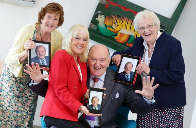 At the launch of the Silver Surfer Awards by Age Action and DCU with George Hook were Noeline Brennan from Lucan, Adrienne Swan from Malahide and Marie O'Gorman from Walkinstown. Photo: Marc O'Sullivan