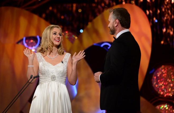 Meath Rose Elysha Brennan on stage with Daithi O'Se. Photo By : Domnick Walsh