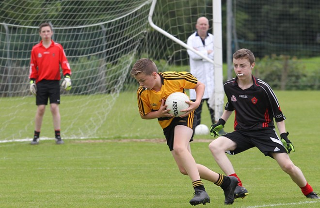Andrew Grant, St Eunans against Urris.