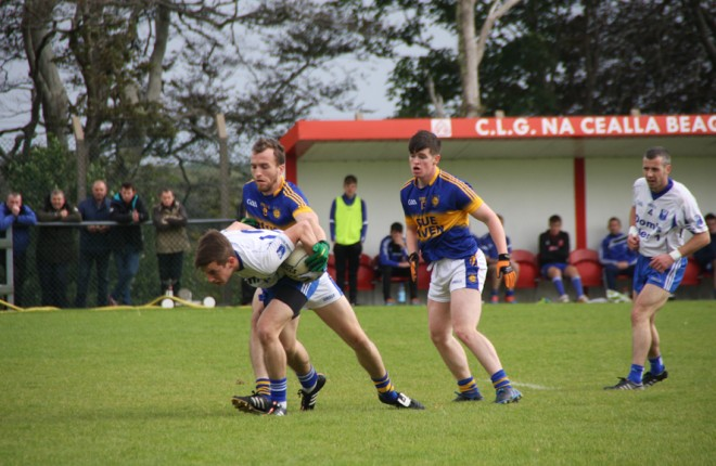 Ciaran McGinley (KIlcar) closes down Caolan Loughney (Four Masters)