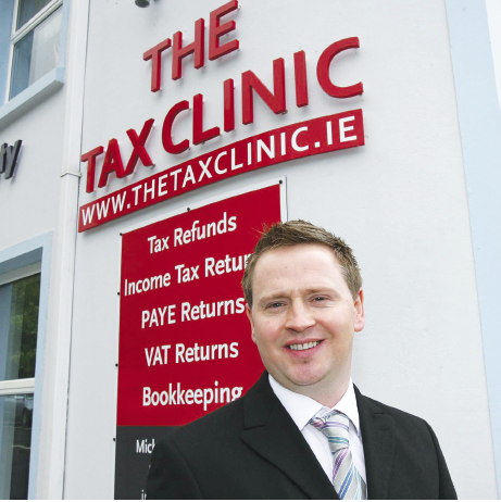 Mr. Michael Coll pictured at the Tax Clinic premises at High Road, Letterkenny.