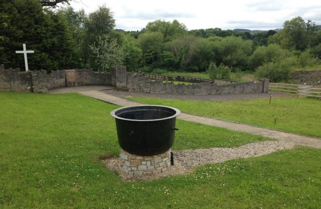 A Famine pot in Donegal town Famine graveyard.
