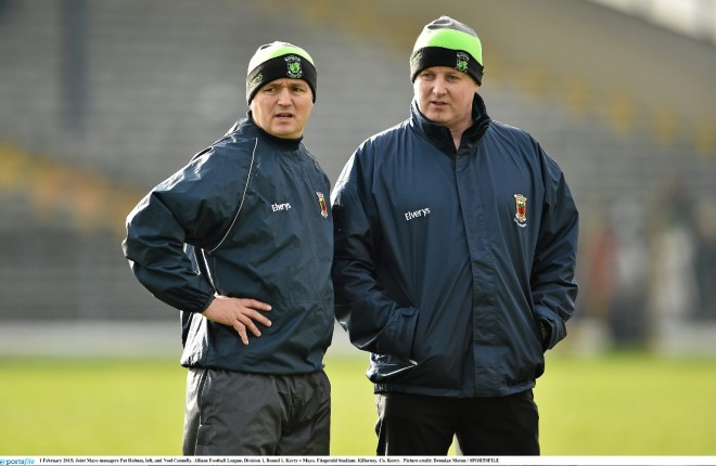 Mayo joint-managers Noel Connelly and Pat Holmes
