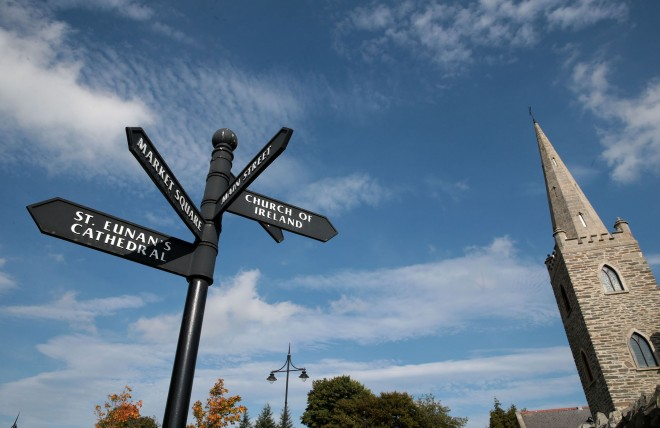 Fingerposts at Cathedral Square, Letterkenny.
