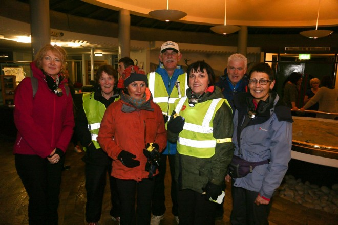 Walkers from the Letterkenny area at end of the Run in the Dark 5k this time last year.