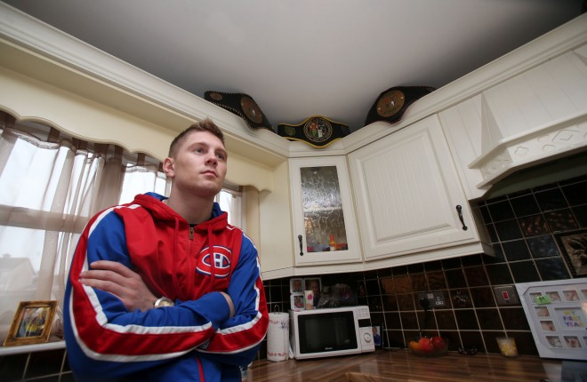 Jason Quigley at home in Stranorlar recently. Photos: Donna El Assaad.