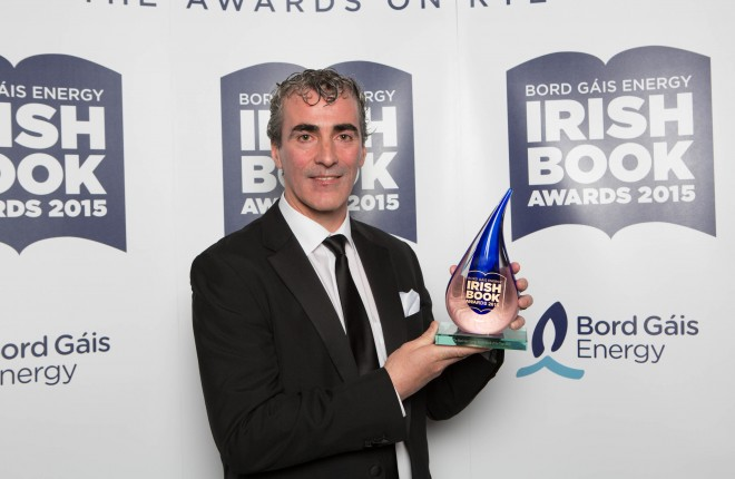 Pictured at the 10th annual Bord Gáis Energy Irish Book Awards is Jim Mc Guinness, winner of the Bord Gáis Energy Sports Book of the Year for his book Until Victory Always  Pic: Patrick Bolger