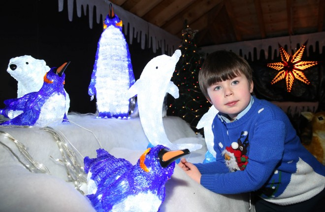 Matthew O'Donnell enjoying the arctic light display.