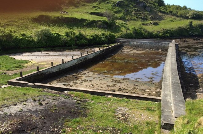 The old swimming pool in Ranafast. Photo: Eoin McGarvey