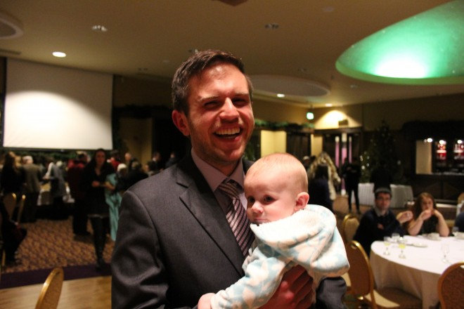 Tim Jackson holding a good looking Donegal baby..