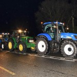 New Holland  leading the way to the Royal and Prior School Raphoe Prom on Friday last in An Grianan Burt.  Photo Clive Wasson