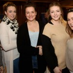 Beauty therapy students,Nicola Cullen, Jennifer McGee, Marie Claire Whoriskey, Anita Harkin  and Sara Kavourmas at the ETB Adult Learner Fair in The Mount Errigal Hotel on Wednesday last. Photo Clive Wasson