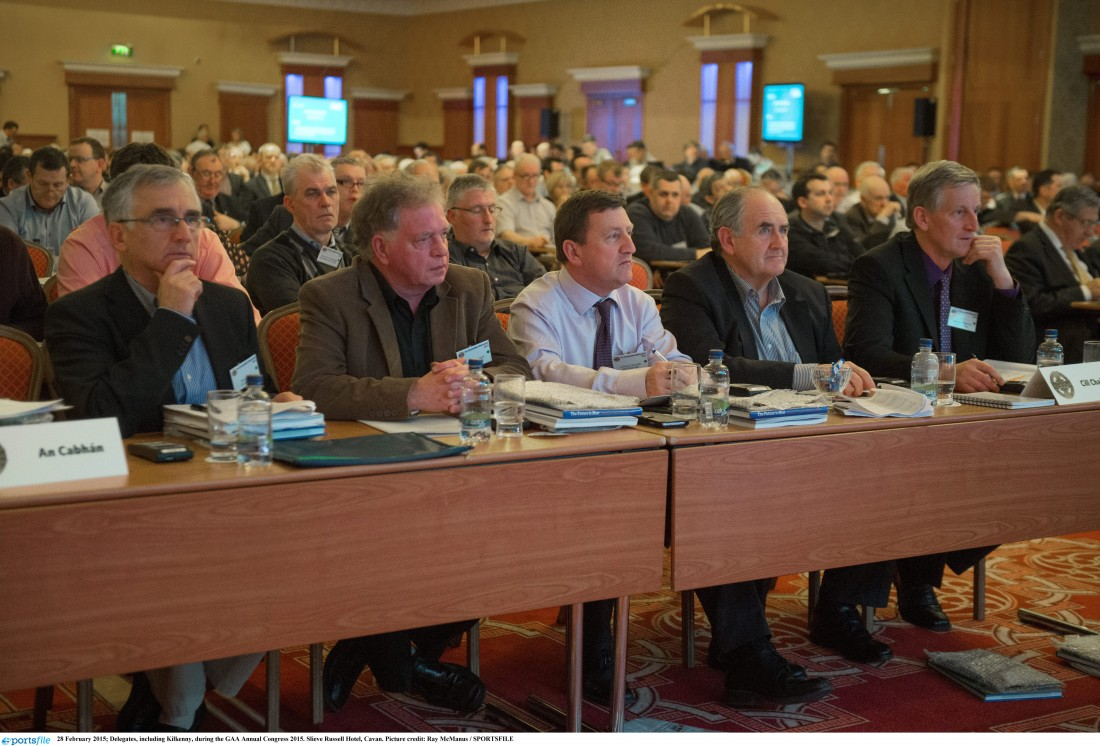 Delegates at last year's GAA Annual Congress 2015. Picture credit: Ray McManus / SPORTSFILE