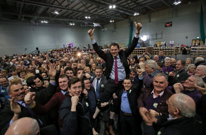 Charlie McConalogue is elected. Photo: Donna El Assaad