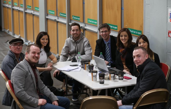 Team Dessie Shiels at the count centre.