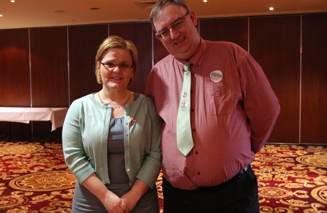 Rose McBrearty, Family Carers Ireland, and Alastair McKinney, Alzheimer Society of Ireland (Donegal branch).