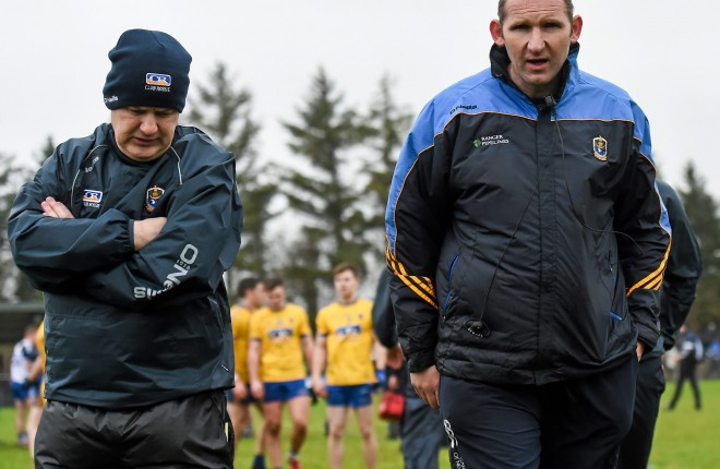31 January 2016; Roscommon managers Kevin McStay, left, and Fergal O'Donnell. Picture credit: Stephen McCarthy / SPORTSFILE