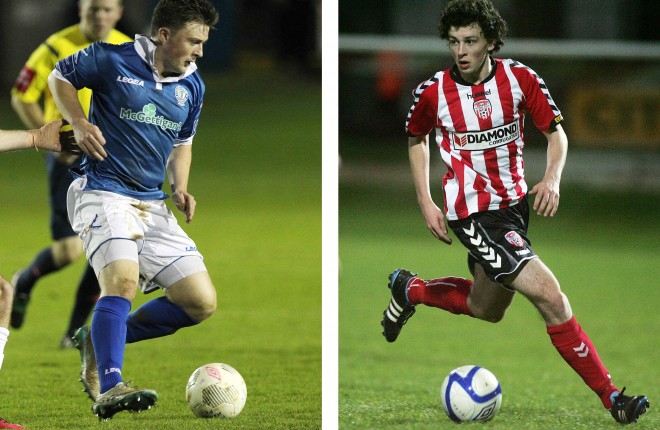 Brothers Tony McNamee, Finn Harps and Barry McNamee, Derry City.