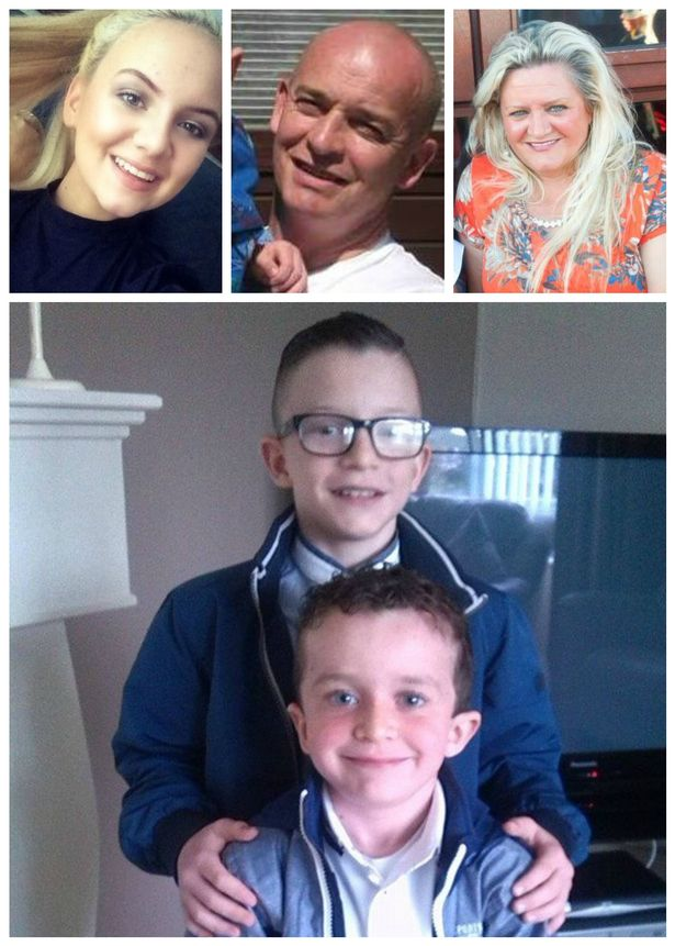 Sean McGrotty, his sons Mark, 11 and eight-year-old Evan, his mother-in-law Ruth Daniels and her teenage daughter Jodie all died after their car slid off a pier in Buncrana and sank in Lough Swilly on Sunday night.