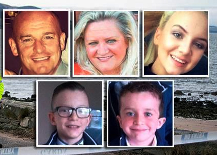 Five family members from Derry who lost their lives  at Buncrana pier in March.