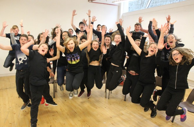 Participants at the last acting workshop for teenagers.