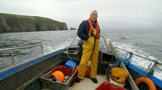 Arranmore man Jerry Early at sea.