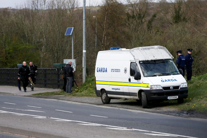 Gardai at the scene this afternoon.